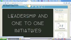 Leadership and One to One Initiatives