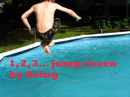 Jumping in Pool